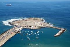 Península na cidade de Arica, o Chile fotografia de stock