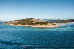Península na entrada do porto de Albany, Austrália Fotografia de Stock Royalty Free