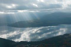 Península olímpica Washington de la bahía del descubrimiento Fotos de archivo libres de regalías