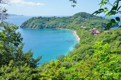 A península Papagayo em Guanacaste, Costa Rica Imagem de Stock Royalty Free