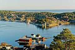 Península rochosa da paisagem Fotos de Stock Royalty Free