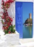 Península tradicional de Halkidiki de la arquitectura Fotografía de archivo libre de regalías
