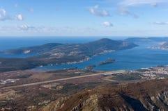 Península y Boka Kotorrska de Lustica montenegro Fotos de archivo libres de regalías