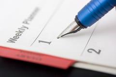 Pen. Ink pen in buisness planer stock images