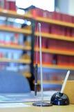 Pen. A pen as spiral desk utensil Stock Photography