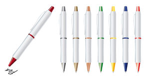 Pen. Vector illustration of set colorfull pens Royalty Free Stock Photography