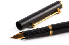 Pen. Close-up of a fountain pen isolated over a white background Stock Photo