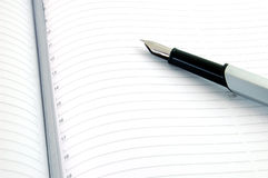 Pen and Agenda Royalty Free Stock Photo