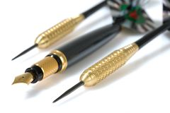 Pen And Darts Stock Image