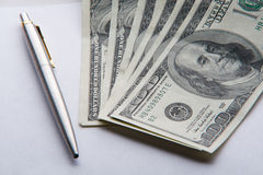 Pen And Money Stock Image