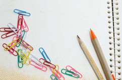 Pen And Paper Clips Stock Photos