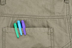 Pen in back pocket Royalty Free Stock Photo