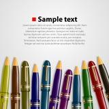 Pen background Stock Photos
