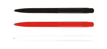 Pen black red white Stock Photography