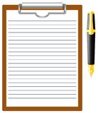 Pen and blank. Royalty Free Stock Images