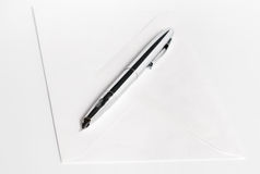 Pen and blank envelope Royalty Free Stock Image