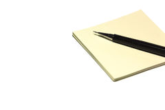 Pen and blank paper sheets Royalty Free Stock Image