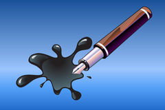 Pen and blot Stock Image