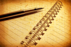 Pen with book royalty free stock image