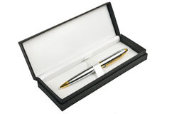 Pen in box Royalty Free Stock Images