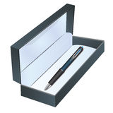 Pen in a box Royalty Free Stock Images