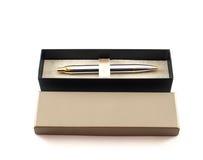 Pen in box of stock image