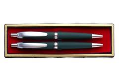 Pen in box macro Royalty Free Stock Images