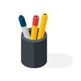 Pen box vector illustration. Stock Image