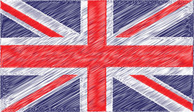Pen British Flag Royalty Free Stock Images