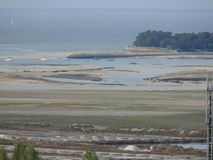 Pen Bron seen from the steeple of the village of Batz sur mer royalty free stock photos