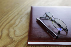 Pen business wallet glasses notebook Royalty Free Stock Photography