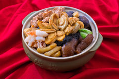 Pen Cai, Poon Choi, Pen Chai, Peng Cai, Big Bowl Feast. One-pot Chinese dish for Chinese New Year Royalty Free Stock Image