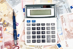 Pen and calculator Royalty Free Stock Photo