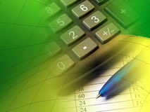 Pen and calculator Stock Photography