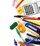 Pen, the calculator, dollars and a notebook. Royalty Free Stock Image