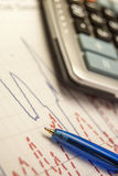 Pen and calculator Royalty Free Stock Photography
