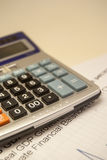 Pen and calculator Royalty Free Stock Image