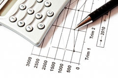 Finance chart Royalty Free Stock Photos