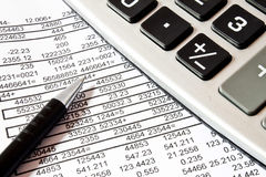 Calculations,accounting concept Stock Photos