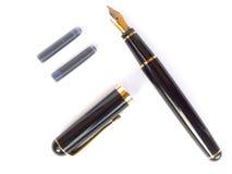 Pen and cartridges Stock Photos