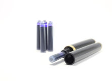 Pen and cartridges Royalty Free Stock Photos