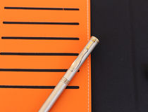 Pen and casd Stock Photo