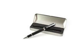 Pen and case Royalty Free Stock Images