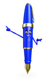Pen Character is pointing Royalty Free Stock Photography