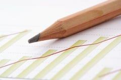 Pen on Chart. Still-life of Pen on Chart Stock Image