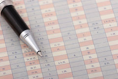 Pen on a chart Stock Image