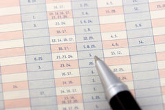 Pen on a chart Stock Photography