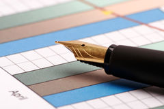 Pen and chart Stock Photo