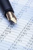 Pen and charts Royalty Free Stock Image