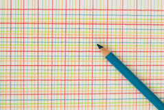 Pen on checkered background. Blue pen on a checkered background Stock Photography